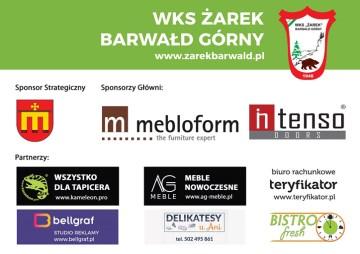 """Sponsorzy WKS """"Żarek"""" Barwałd Górny - mat. prasowe"""