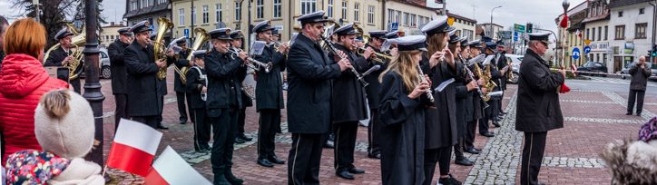 Obchody Święta Niepodległości 11 listopada 2019 r. - fot. Andrzej Famielec - Kalwaria 24 IMGP0005-Pano