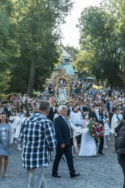 Procesja Wniebowzięcia NMP - 16 sierpnia 2020 r. - fot. Andrzej Famielec - Kalwaria 24-04664