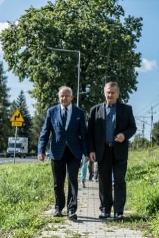 Odbiór nowego oświetlenia LED wdłuż drogi krajowej DK52 - 18 września 2020 r. - fot. Andrzej Famielec - Kalwaria 24-07667