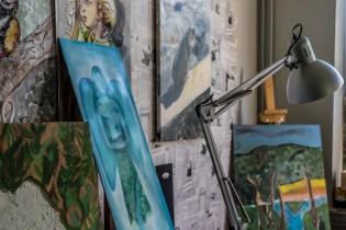 Zielony Anioł w Lanckoronie - Wystawa prac uczniów z -Werandy Anieli- podcas -Spotkania w Stodole--04387