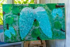 Zielony Anioł w Lanckoronie - Wystawa prac uczniów z -Werandy Anieli- podcas -Spotkania w Stodole--04389
