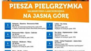 222 Piesza Pielgrzymka Kalwaryjsko-Lanckorońska na Jasną Górę - 3 lipca 2021 r. - fot. Sanktuarium Pasyjno-Maryjne w Kalwarii Zebrzydowskiej