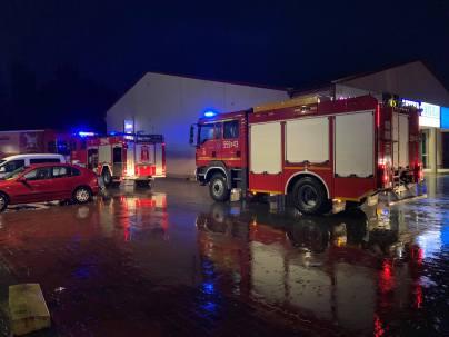 Akcja OSP Kalwaria na ul Krakowskiej - fot. DK52info