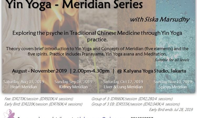 yin yoga - meridian series