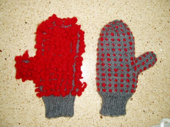 thrummed mittens - free pattern from Knit. Write. Repeat