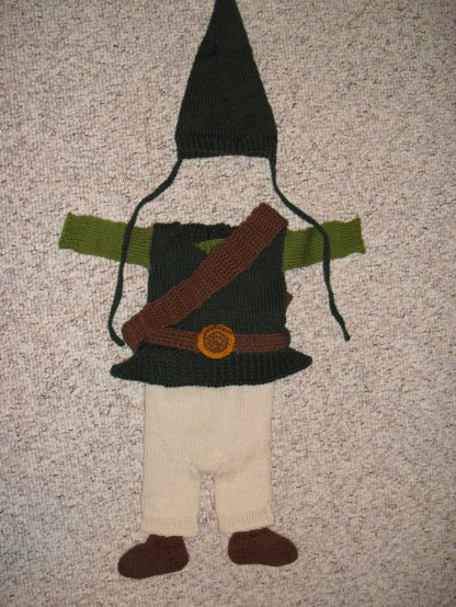 Link costume - free pattern from Happy Seamstress (acrylic / wool)