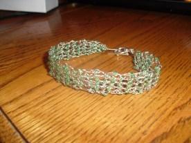 beaded crochet wire bracelet - original