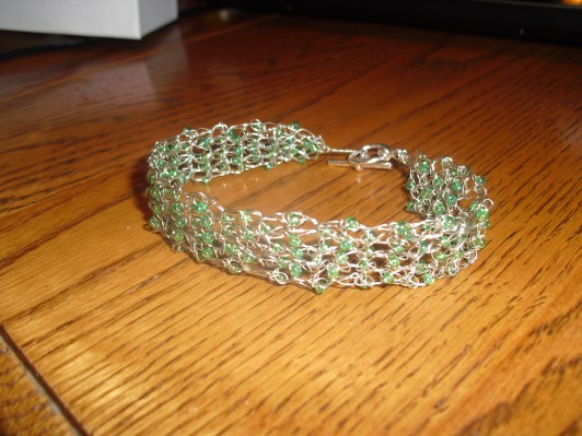 beaded crochet wire bracelet - original