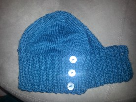 ponytail hat - adapted free pattern from Blake Ehrlich Designs (merino / silk)