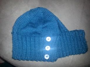 ponytail hat - adapted free pattern from Blake Ehrlich Designs (merino / silk)