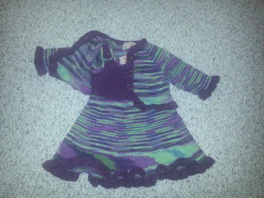 baby dress & jacket - original (acrylic / nylon)