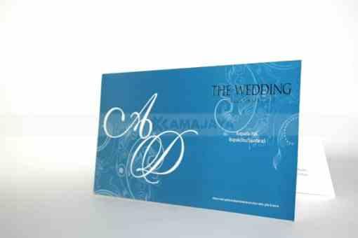 Undangan Pernikahan Softcover Warna Biru