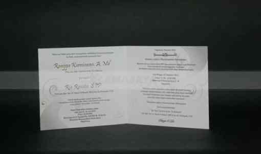 Bagian dalam Undangan Pernikahan Rangga - Ria