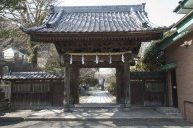 長勝寺山門。