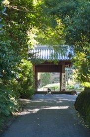 最も下にある入口の門。瑞泉寺の門はすべてこの小さめのサイズになっています。これがまた谷戸の景色を邪魔しない粋な風情です。