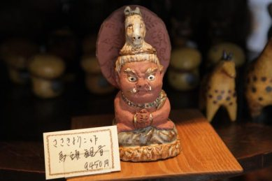 陶人形作家、ささきようこ作の馬頭観音、9,450円。