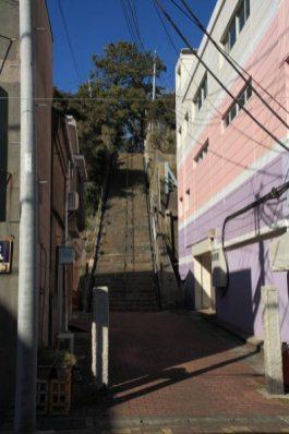 本瑞寺参道。この階段の奥に本瑞寺があります。