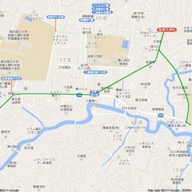 王道金沢街道地図2