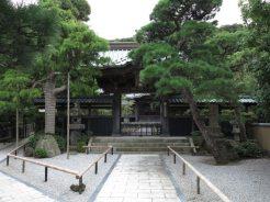 本蓮寺山門。