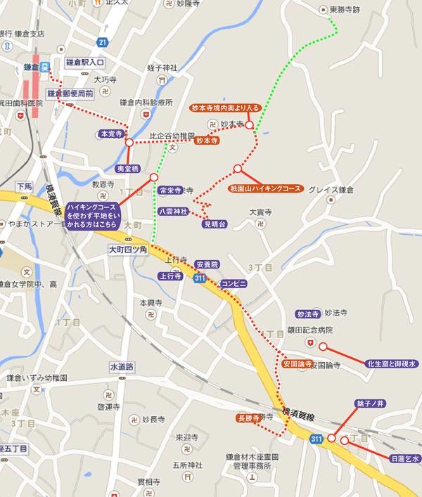 〈紅葉〉日蓮ゆかりの大町地図