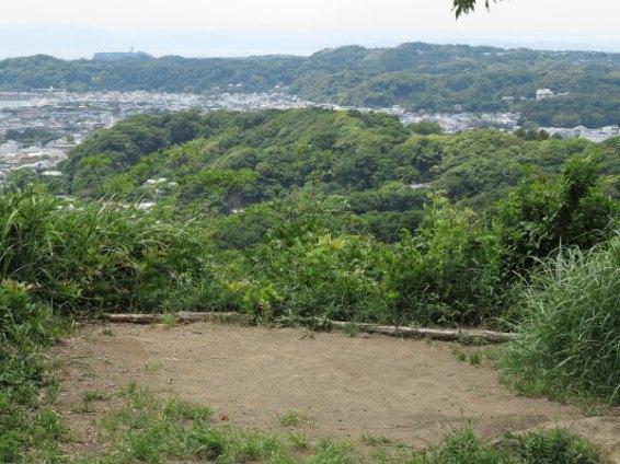 平成巡礼道。衣張山山頂を過ぎて少し歩くとまた平場があります。