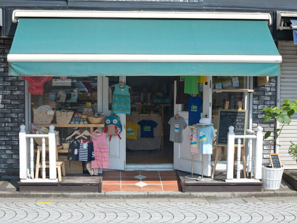 御成通りにあるPEPE&KEIKI。鎌倉らしさを考えたベビー&キッズ用品のお店です。
