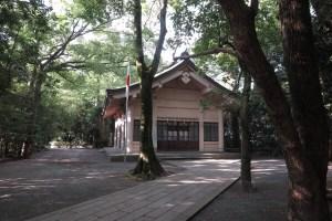 戦役に没した英霊を祀る伊豆魂神社。