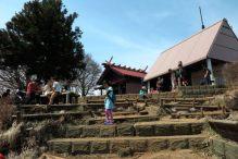 大山阿夫利神社本社のある山頂。本社、奥の院、茶店などがあります。【大山阿夫利神社】