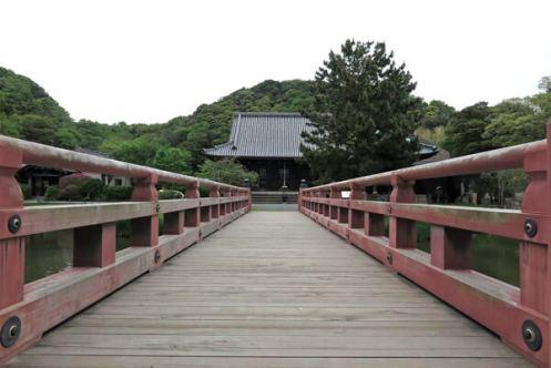 称名寺、浄土庭園の平橋と金堂