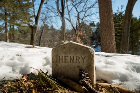 Lápida de Henry David Thoreau en Sleepy Hollow Cemetery.
