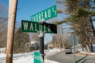 Cruce entre Thoreau Street y Walden Steet, en Concord.
