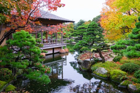 Jardines Yuushien, en la isla de Daikonshima.