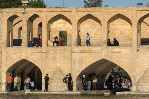 Allahverdi Khan Bridge popularly known as Si-o-seh pol bridge, Isfahan, Iran