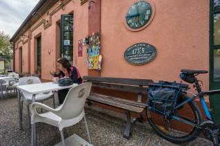 Antigua estación en Sant Feliu de Pallerols.