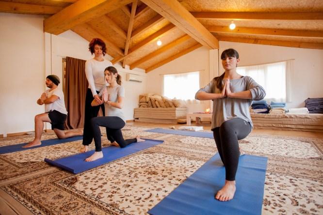 Yoga en Mas Garganta.