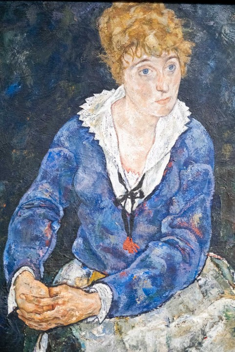 Esposa del artista sentada (Schiele).