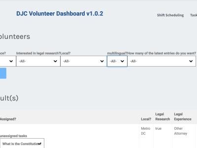 Volunteer Management Tool