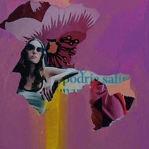 """I. Mindiuz. """"Pink Life"""". 2013. Mišri technika. Popierius/kartonas, 5 x 5 cm"""