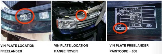 PLAQUES LAND ROVER