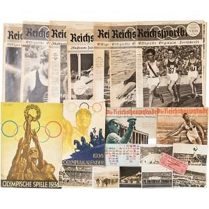 1936年ベルリン・オリンピック関連雑誌・絵葉書