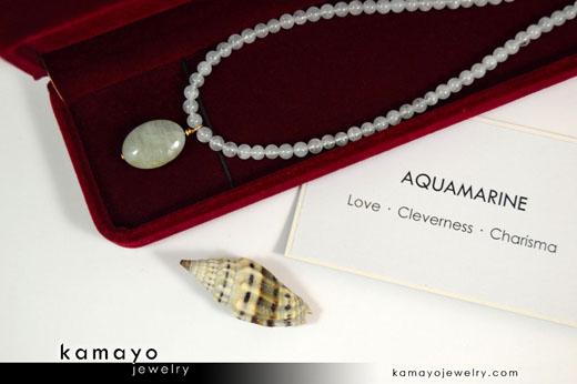 Milky Aquamarine Necklace