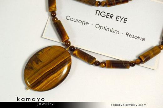 Tiger Eye Stone Of Courage Kamayo Jewelry