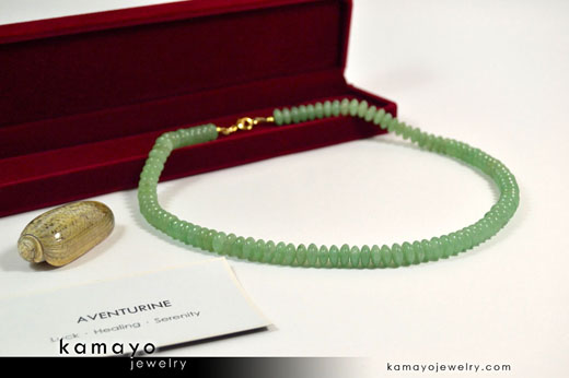 Men's Green Aventurine Choker