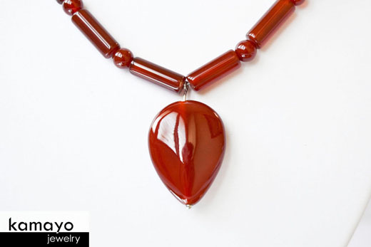 Carnelian Necklace - Tooth Pendant