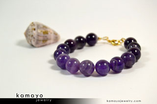 Purple Amethyst Bracelet - Buy Now