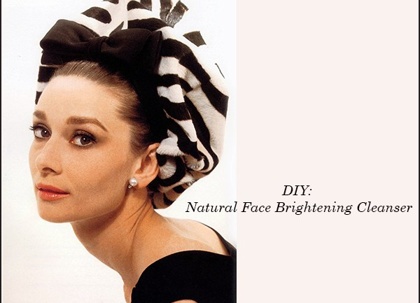 DIY: Natural Face Brightening Cleanser
