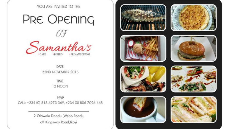 Event: The Pre-Opening of Samantha's Bistro & Grill