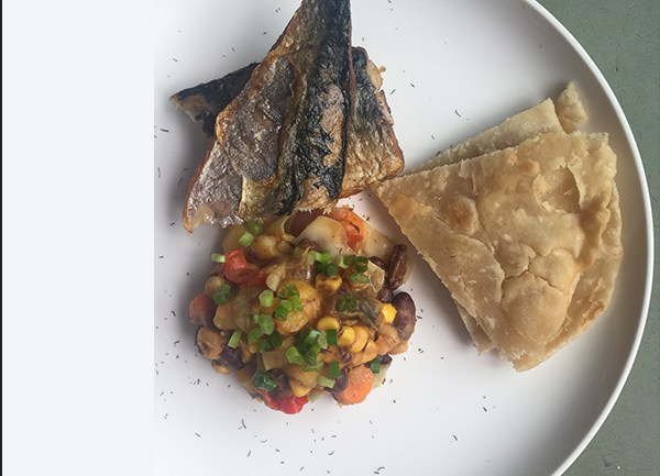 Githeri with Chapstick and Fried Fish