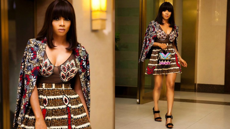 LOTD: Toke Makinwa Outfit For Her Book Launch Party